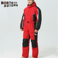 hot Winter Men outdoor Skiing Jumpsuits thermal waterproof windproof Ski Suits male Snowboarding One piece Snowsuit Warm clothes