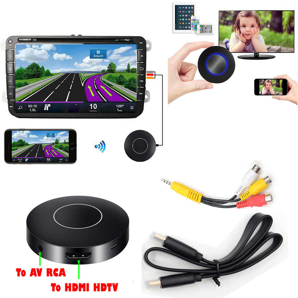 AllShare Cast DLNA Miracast Airplay Screen Mirroring HDTV Dongle HDMI Stick Wireless Wifi Car AV RCA Video Adapter Phone to TV