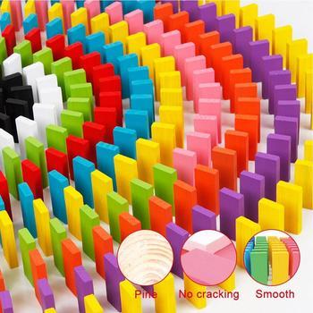 Domino zabawki 240 sztuk DIY mieszane kolory dzieci dzieci kreatywne drewniane Domino klocki gry zabawki edukacyjne zestaw zabawek prezent tanie i dobre opinie Wooden Dominos Blocks Set Zwierzęta i Natura Transport Fantasy i sci-fi Zawodów Muzyka Multi Color Domino Toys Linden wood