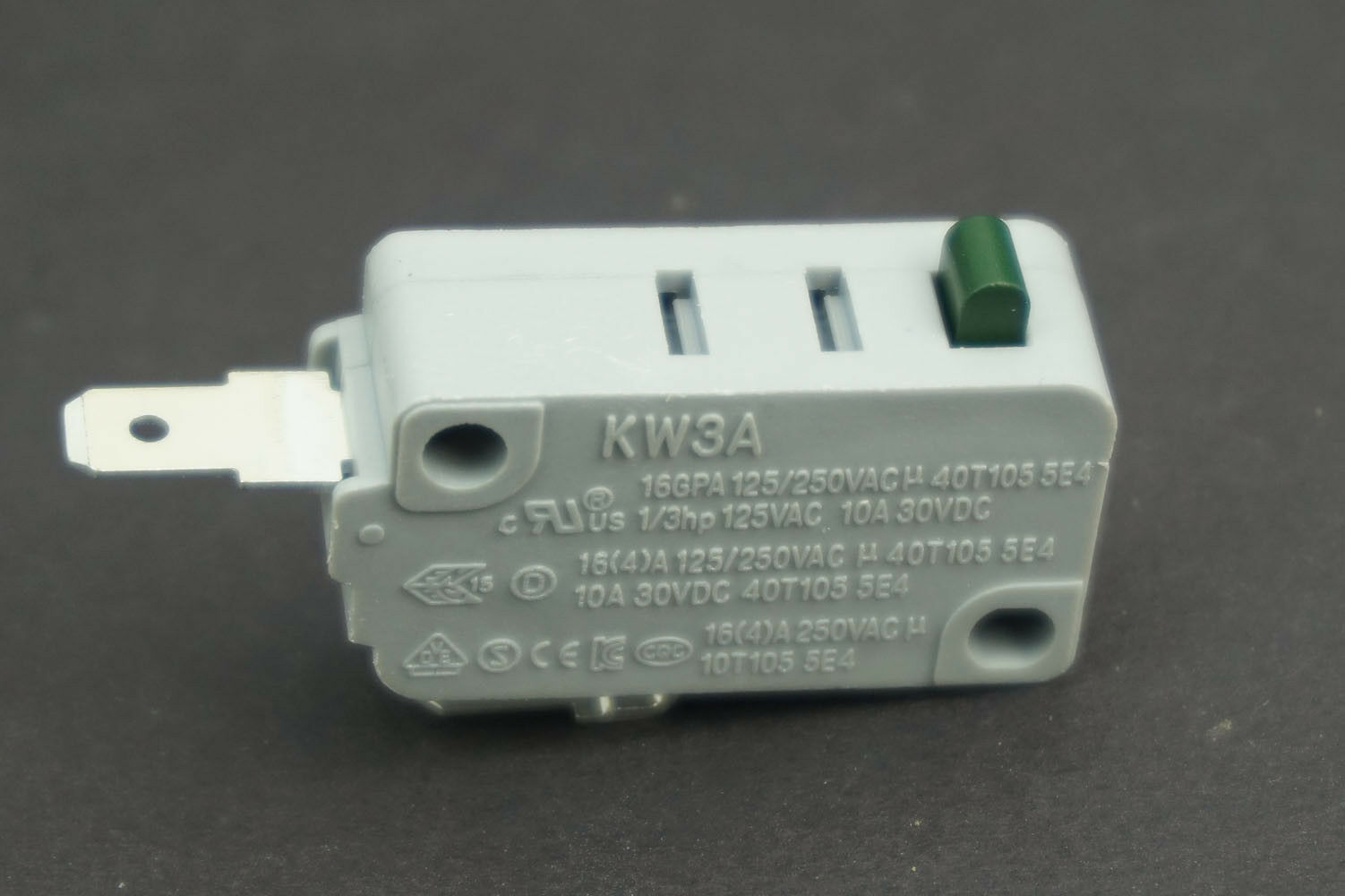 2 Pcs Microwave Oven KW3A Door Micro Switch Microswitches Normally Open DR52