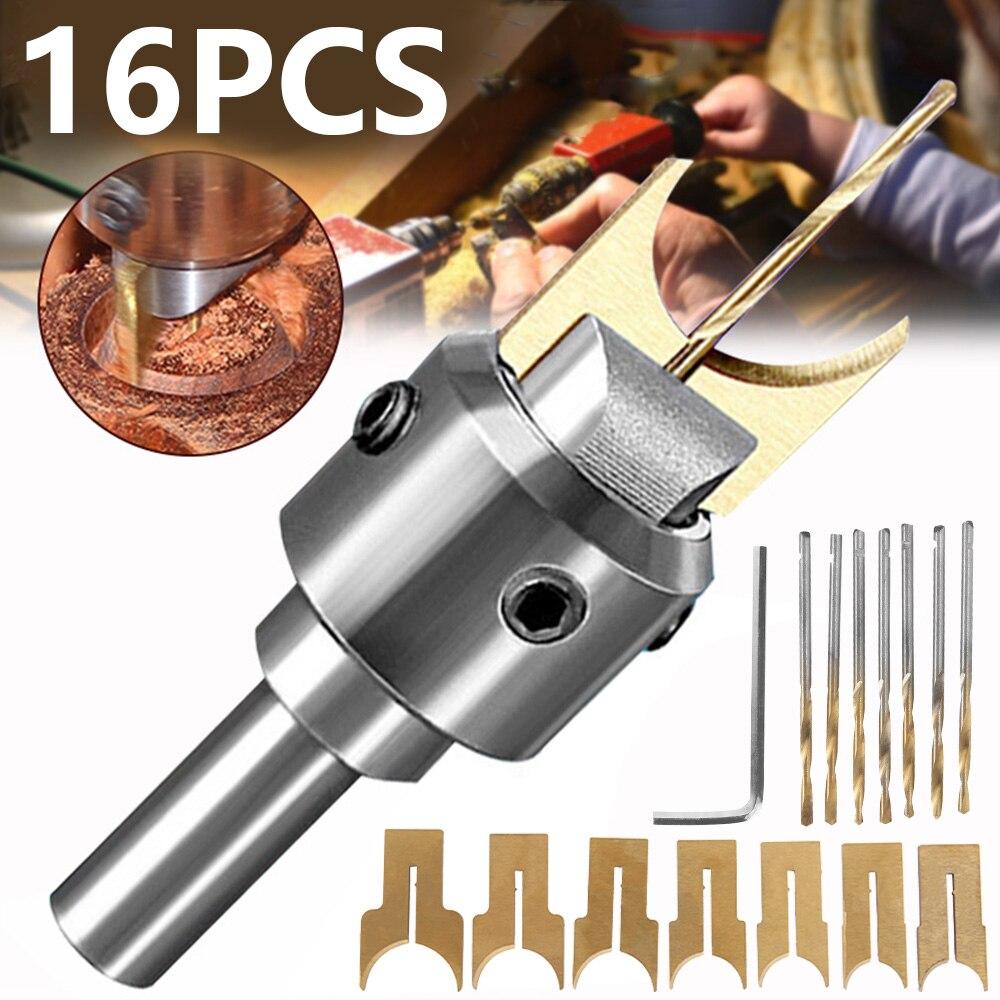 16pcs Wooden Bead Make Drill Bit Carbide Ball Blade Woodworking Milling Cutter Molding Tool Buddha Router Bit Drills Set 14-25mm