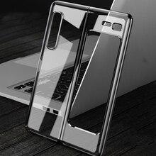 Sang Trọng Mạ Trong Suốt Cứng Nhám Giành Cho Samsung Galaxy Gấp Z Gấp 3 Điện Thoại Ốp Lưng Nhựa Cứng Nhám Giành Rõ Ràng Dành Cho galaxy Gấp 1