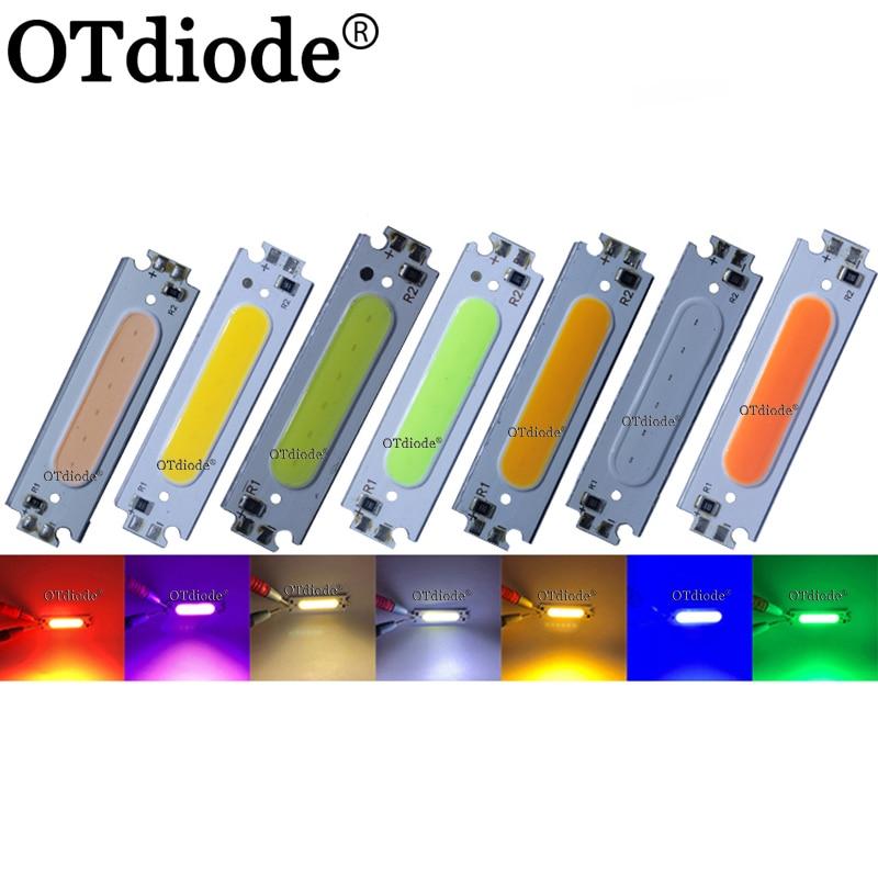 60*15mm 12V 2W COB LED Light Strip Flip Chip 6cm Colorful LED Bulb for Auto Car Lamps House Lighting DIY DC12V 60mm COB