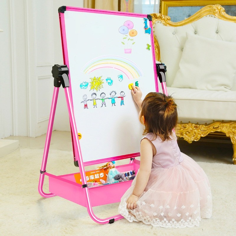 Young STUDENT'S Double-Sided CHILDREN'S Drawing Board Easel Children WordPad GIRL'S Braced Household Blackboard Hanging Teaching