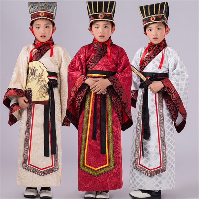 Children's Costumes Show Chinese Traditional Chinese Traditional  Clothing Boy Ministers Generals Robes Children Perform Service