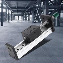 купить 200mm Aluminum Alloy Linear Guide Rail Slide Ball Screw Motion Table Effective Stroke по цене 4203.57 рублей
