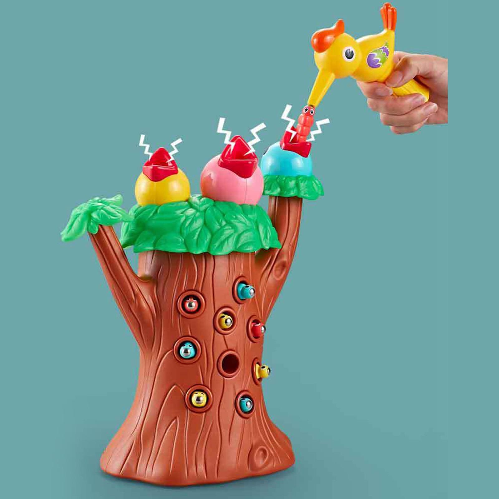Kids Magnetic Woodpecker Toy for Age 3+ Girls Boys Role Play Sensory Feeding Preschool Games