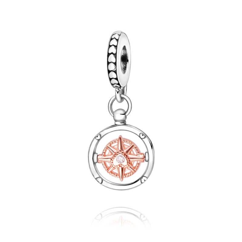 2020 Valentine's New Beads Club 2020 Compass Charm fit Original Pandora  Bracelets Women DIY Jewelry