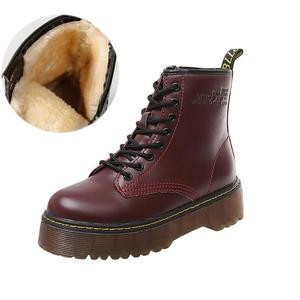 Female Autumn Winter Boots Genuine Leather Boots Soft Fur Lace up Shoes Flat Platform Boots Round Toe Ladies Boots WJ005