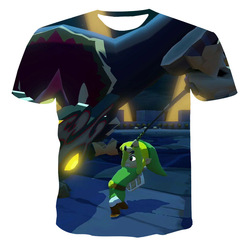 Lato 3D męska koszulka słodka animacja kreskówka koszulka z krótkim rękawkiem O-Neck duży rozmiar dorywczo luźna ulica para T-shirt odzież