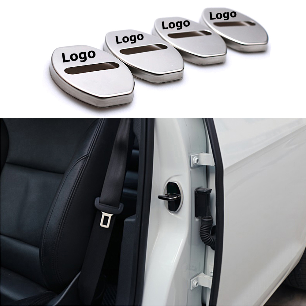 4-100 Pcs For S Badge Car Door Lock Protector Cover Logo Case For Audi Sline A4 A6L A8L Q5 Q7 TTS B8 C6 C7 C5 S8 RS5 Accessories