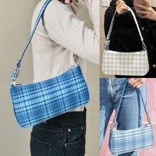 Wholesal 2020 Woman Hand Bag Messenger Bags Shoulder Satchel Armpit Package Lattice Baguette Package  England Style Handbags