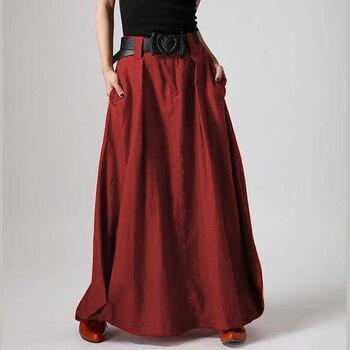Beach Maxi Long Skirt ZANZEA Summer Zipper Skirts Women Elegant Solid Bohemian Jupe Female Faldas Saia Oversized