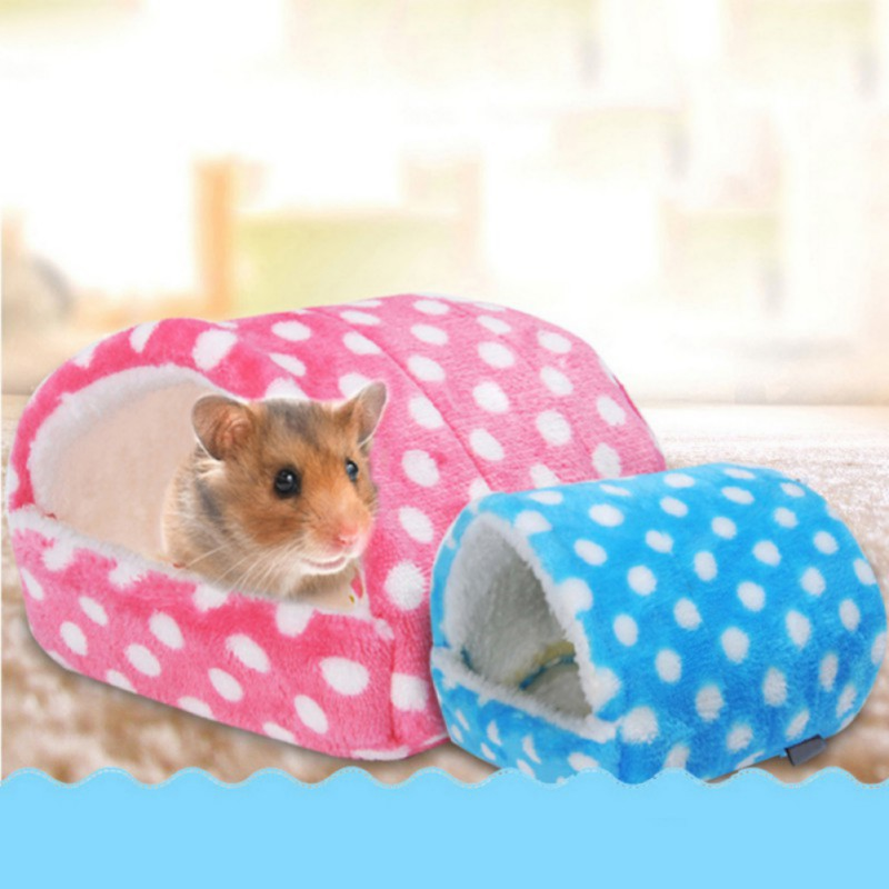 Soft <font><b>Plush</b></font> Hamster <font><b>Guinea</b></font> <font><b>Pig</b></font> House Bed Cage Small Animal Mice Rat Nest Bed House Small Pet Products image