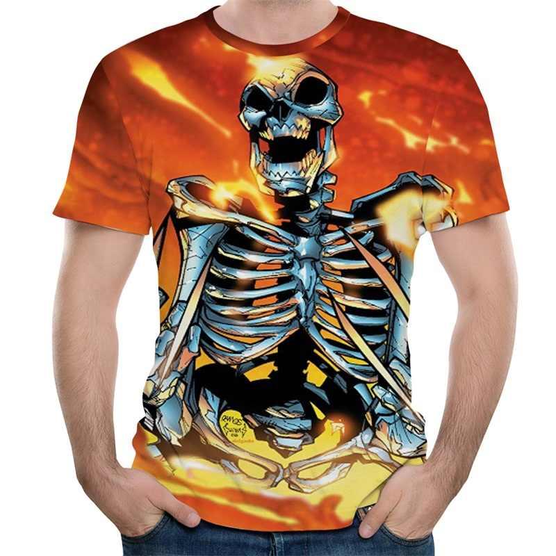 3D לב דפוס T חולצה גברים אופנה Harajuku O-צוואר קצר שרוול מזדמן חולצות Tees מגניב Galaxy היפ הופ Tees אופנה פאנק T חולצה