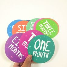 Infants Monthly Growth Stickers Newborn Baby Photography Props infants