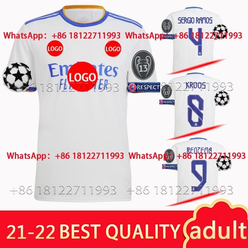 2021 рубашка JOVIC BENZEMA 2022 реальные MadridES MODRIC 21-22 рубашка высшего качества MARCELO новая рубашка для дома с третьего уровня опасности VALVERDE