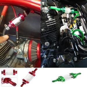 Image 3 - 8mm cnc filtros de óleo combustível gás acessórios da motocicleta filtro combustível para atv sujeira pit bike motor automóvel filtro dos sons aceit