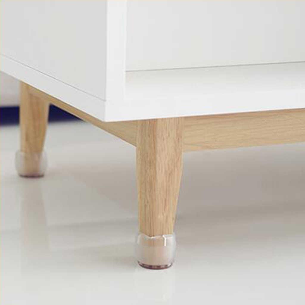 30 قطعة ل قطر 17-21 مللي متر واضح كرسي حافظات الأرضية الساق مع ورأى منصات الأثاث كرسي قدم غطاء
