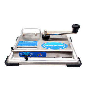 Tabletop ręczna maszynka do skręcania papierosów korba ręczna ze stali nierdzewnej tytoń Roller Maker narzędzie do palenia papierosów tanie i dobre opinie CN (pochodzenie) Metal Lakier Cigarette