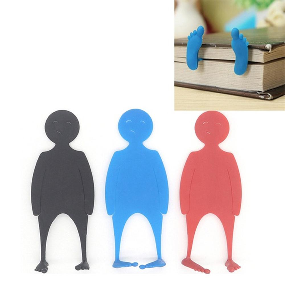 Cute Novelty PE Man Shape Bed Time Bookmark Books Page Marker Stocking Fillers Cartoon Character Modeling Students Reading