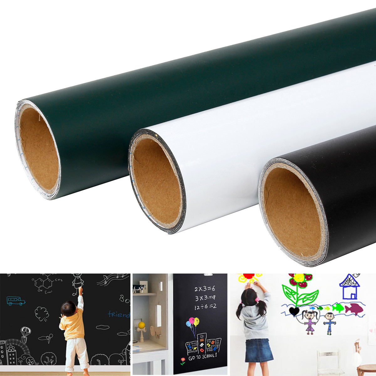 45x100cm Magnetic Blackboard Wall…