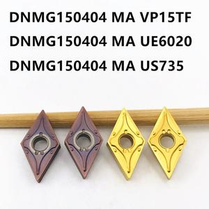 Image 2 - Твердосплавная вставка DNMG150404 MA VP15TF UE6020 US735, режущий инструмент, высококачественный токарный инструмент с ЧПУ DNMG 150404, фрезерный токарный инструмент, 10 шт.
