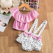 Romper Clothing-Set Newborn Baby-Girls Short-Sleeve Toddler Outfits Birthday-Party Summer