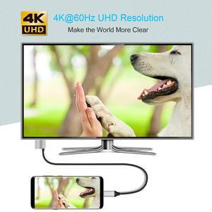 Image 4 - Choetech USB 3.1 Loại C Sang HDMI Cáp Tương Thích Thunderbolt 3 Với 60W PD Cổng Sạc macBook Galaxy S9 Note 8