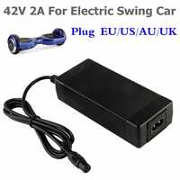 42V 2A cargador de batería Universal para Hoverboard equilibrio inteligente de 36v de energía eléctrica scooter cargador de adaptador de US/EU/AU/enchufe de Reino Unido