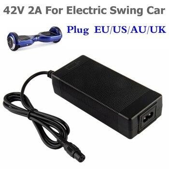 Cargador de batería Universal 42V 2A para Hoverboard Smart Balance rueda 36v cargador adaptador de scooter de energía eléctrica enchufe UE/EE. UU./AU/Reino Unido