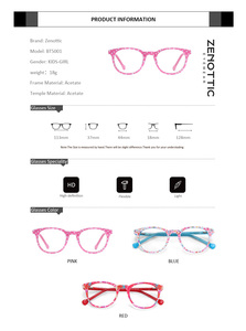 Image 5 - ZENOTTIC Acetate Anti Blue Light กรอบแว่นตาสำหรับเด็กเด็กเด็กสาวสำหรับเล่นเกมคอมพิวเตอร์สายตาสั้นแว่นตา