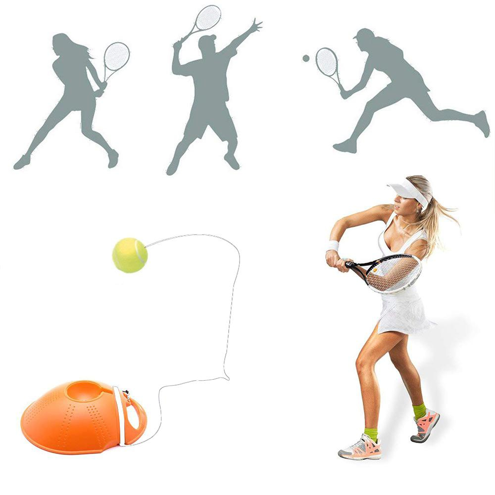 Tennis Ball Single Training Practice Balls Back Base Trainer Self-study Tool Rebound Balls Back Base Tennis Training Base