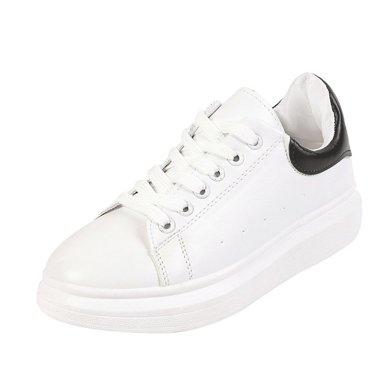 The Same Star McQueen Small White Shoes 2019 Spring New Korean Sequin Muffin Thick Bottom Casual Flat Sports Shoes Women