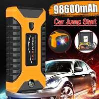 98600mAh haute puissance voiture saut démarreur 12V Portable dispositif de démarrage batterie externe chargeur de voiture pour voiture batterie Booster Buster 4 USB