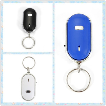 Portable Wireless Anti-Lost Key Finder Locator Keychain Whistle Sound Control LED Light Car Styling Car Accessories image