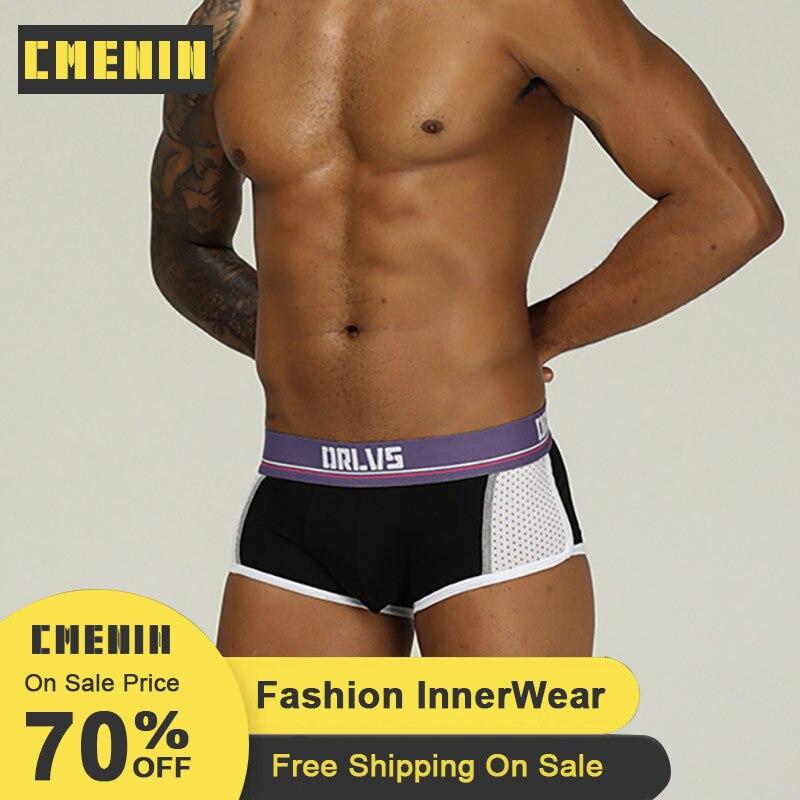 CMENIN Sexy Boxer Men Cotton Patchwork Soft Boxer Mens Underwear Men Free Shipping Lingeries Men Underwear Boxer Shorts Cueca