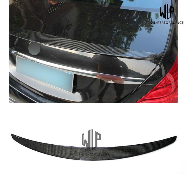 W222 AMG estilo Alerón trasero de fibra de carbono estilo coche para mercedes-benz Clase S S600 S65 S500 2014-2016