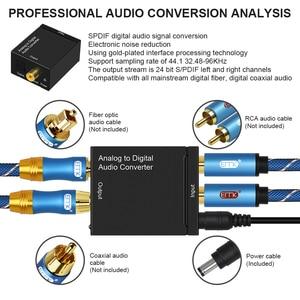 Image 2 - EMK Analoog naar Digitaal Audio Converter Adapter ADC 2 RCA R/L Input Coax Toslink Uitgang Optische SPDIF Converter speaker TV DVD