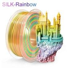 SUNLU — Filament en soie arc-en-ciel 3D, emmêlé 1,75 mm, 100% sans bulle avec sac sous vide, tolérance d'emballage +/- 0,02mm