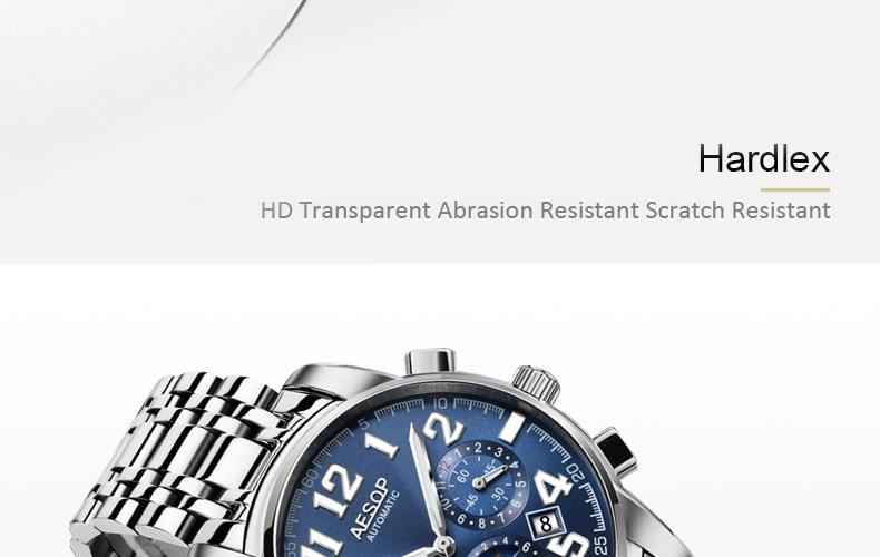 Hc3dbf1010ab34b70888708154ee15ed9J AESOP Luminous Automatic Mechanical Watch Men Luxury Brand Business Waterproof Stainless Steel Male Clock Relogio Masculino 2019