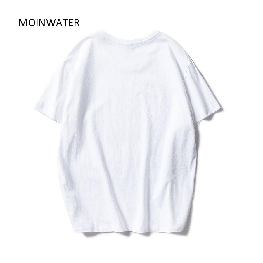 MOINWATER Новая женская модная летняя футболка s Lady 100% хлопок белые футболки женские с коротким рукавом черная футболка Топы MT1942