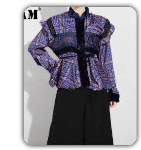 [EAM] 2020 New Spring Lapel Long Sleeve Solid Color Black Gray Split Joint Loose Big Size Jacket Women Fashion JC969 73