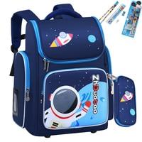 2021 wasserdichte Kinder Schule taschen für Jungen Mädchen Kinder Cartoon Schul Orthopädische Grundschule rucksack mochilas infantil