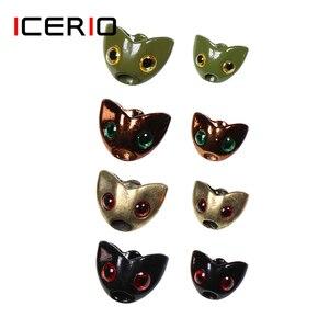ICERIO-casco con forma de calavera de pez, 10 Uds.