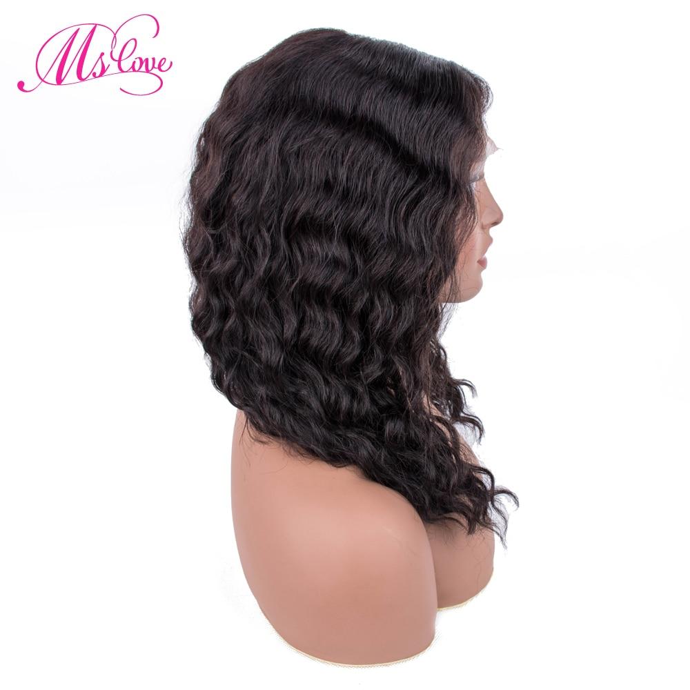 Perruque de cheveux humains bouclés perruque brésilienne Remy cheveux Mslove 14 pouces perruque de cheveux humains bouclés avant de lacet perruques de cheveux humains pour les femmes noires - 2