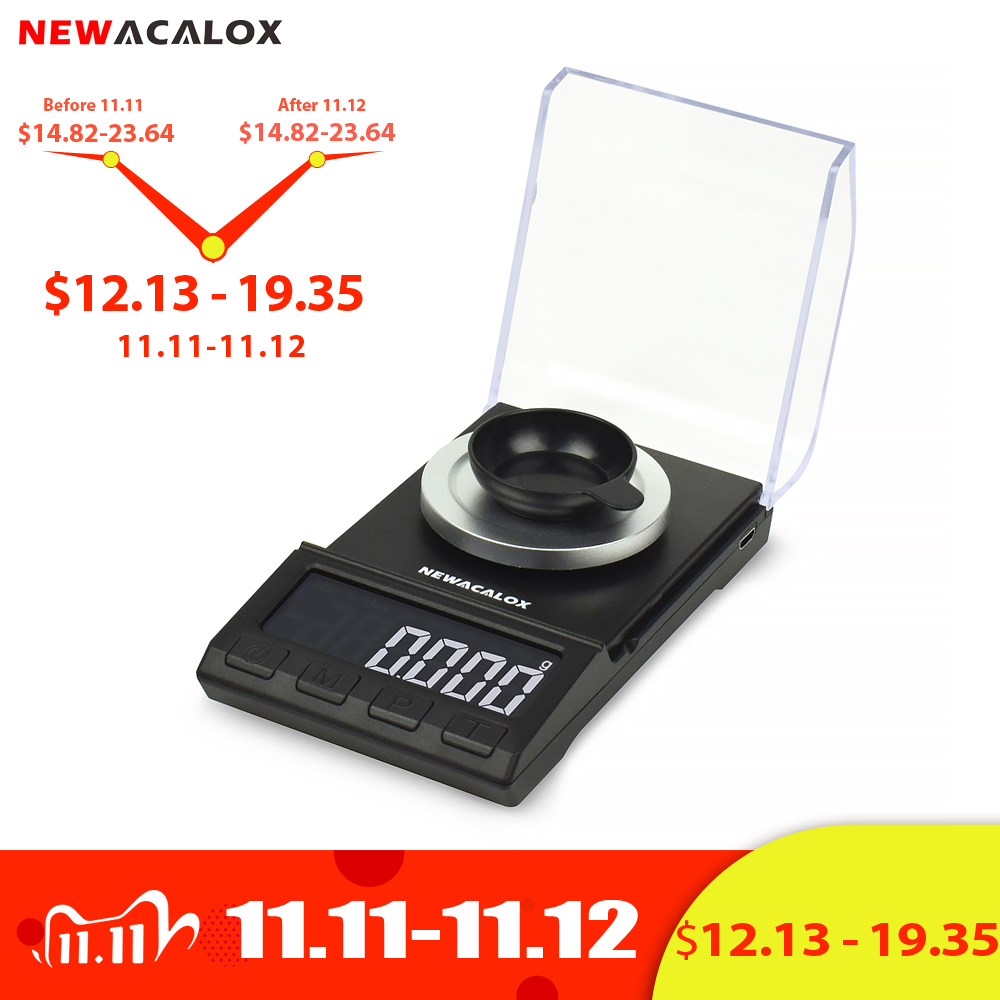 NEWACALOX 50g/200g*0.001g Mini Pocket Digital Scale for Gold Sterling Silver Jewelry Balance USB High Accuracy Electronic Scales|Weighing Scales| - AliExpress