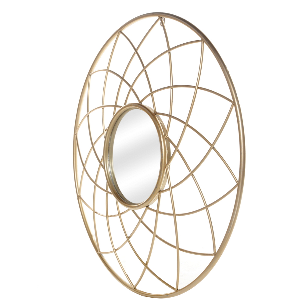 Artisasset Iron Wall Mirror High-Quality Flat Decorative Mirror for Bathroom Vanity Living Room Mantle or Entryway Golden[US-W] 3