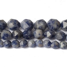 6/8/10mm Natural Faceted New Blue Sodalitee Agates Stone Bea