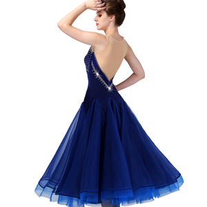 Image 3 - CACARE Ballroom Dance Competition Dresses Waltz Dress Standard Dance Dresses D0955 Luxury Rhinestones Mesh Back Fluffy Hem